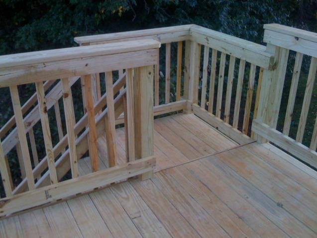 Handrail, stairs, landing