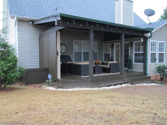 rough sawn timber porch