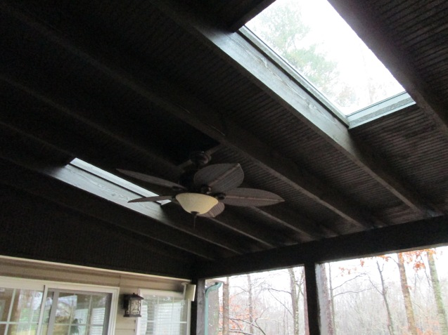 skylights rough sawn timber porch