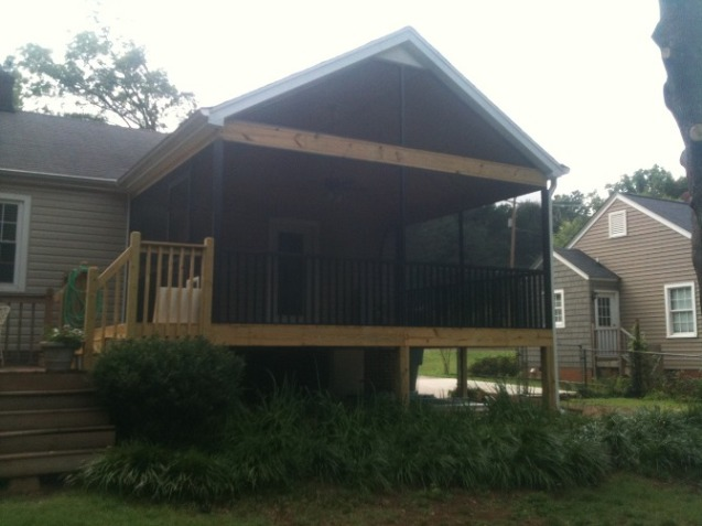screen porch aluminum bronze