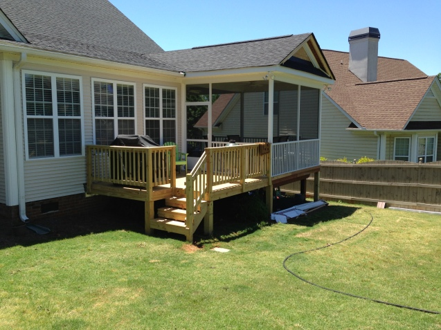 deck and porch expansion