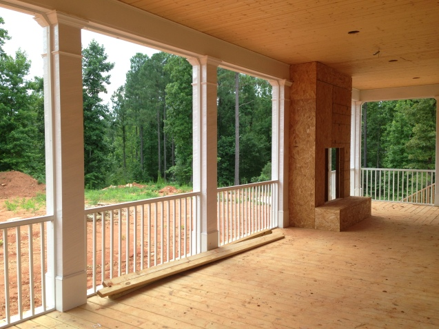columns and fir handrail carolina carpenter