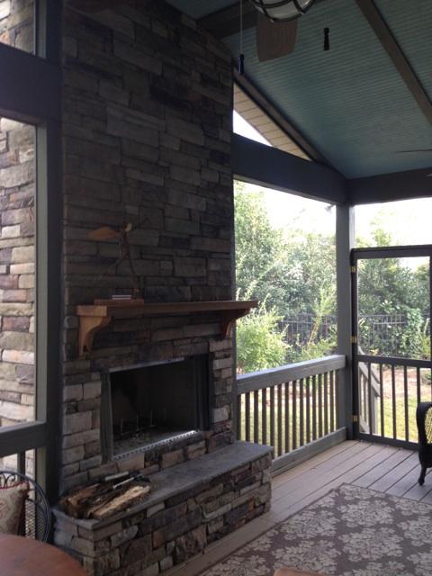 Screened Porch With Stone Fireplace The Carolina Carpenter