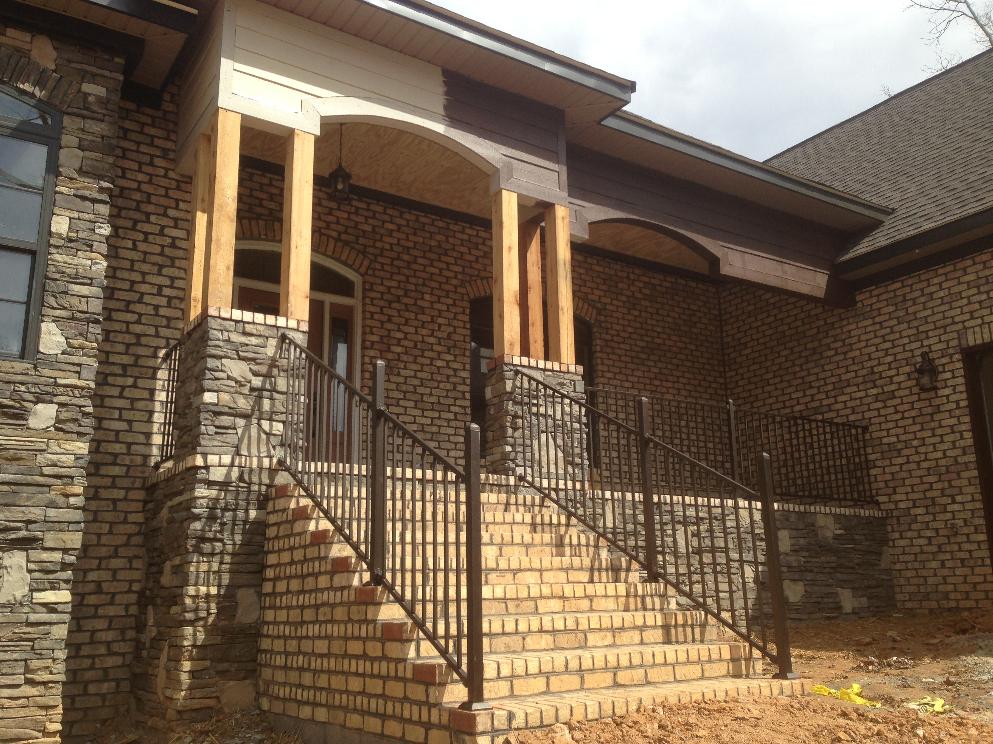Front Porch With Cedar Columns The Carolina Carpenter