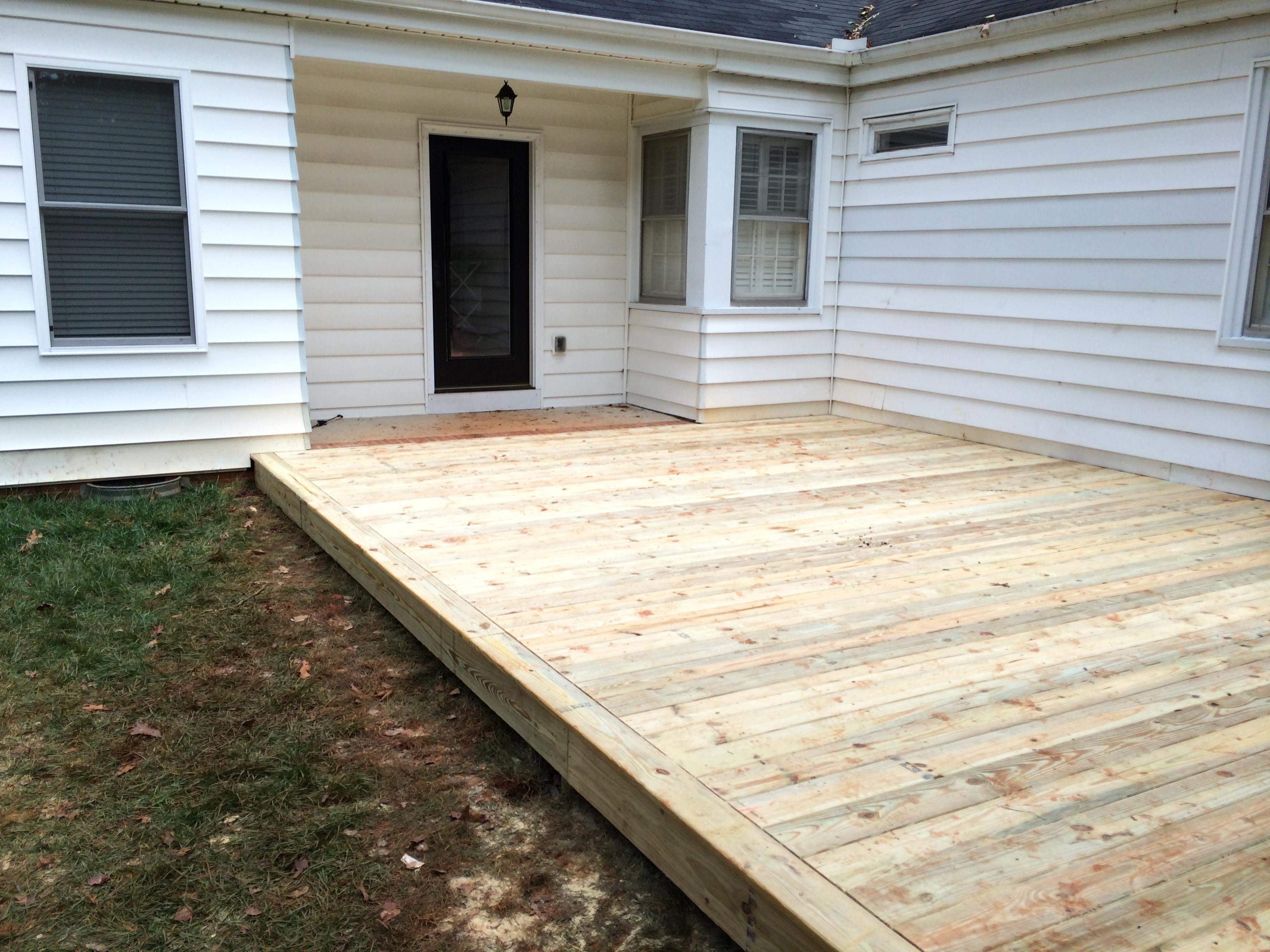 Wrap Around Deck Construction : Wrap around deck the carolina carpenter